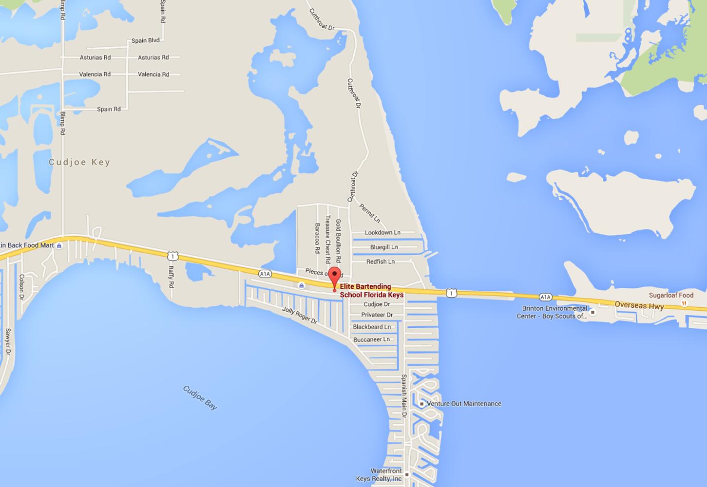 Contact Us Elite Bartending School Of The Florida Keys - Florida keys us map